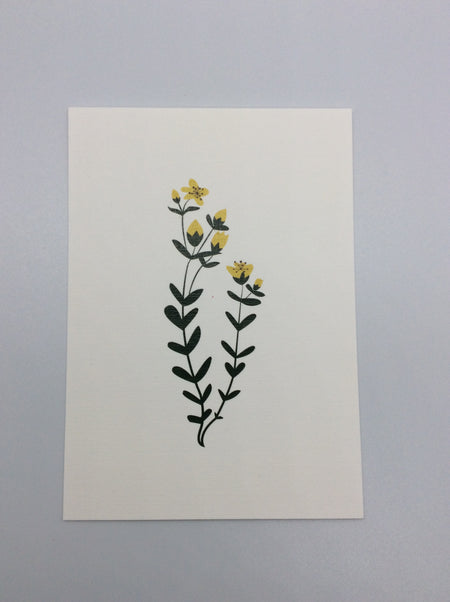 Card - Spring Flowers in Yellow and Green - HartFelt Keepsakes