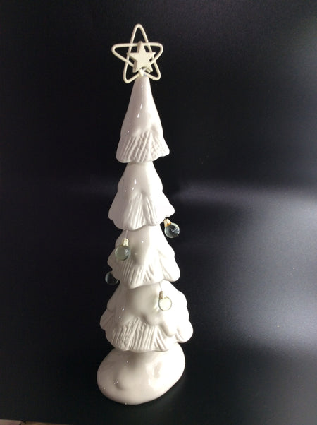 Snow Covered Tree With a Little Jingle Bell - HartFelt Keepsakes