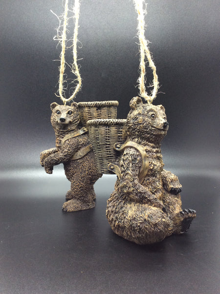 KENAI  Bears With a Basket/ Set of 2
