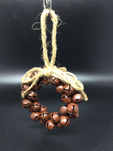 Rustic Jingle Bell Wreath With Twine Bow - HartFelt Keepsakes