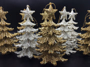 Glitter Ivory and Gold Christmas Tree - HartFelt Keepsakes
