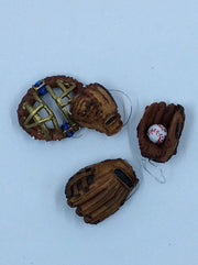 Baseball gloves and catchers mask. Play Ball! - HartFelt Keepsakes
