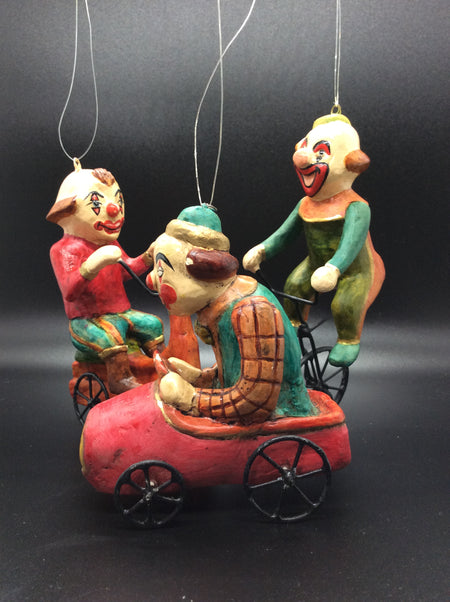Clowns on Unicycles, Bicycles and Cars (Pack of 3) - HartFelt Keepsakes
