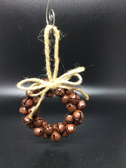Rustic Jingle Bell Wreath With Twine Bow