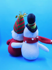Happy Fabric Folk Snowman/Santa - HartFelt Keepsakes
