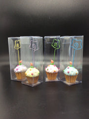 Cupcake Photo or Card Holder (Set of 4)