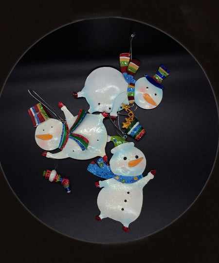 Metal Circus Snowmen/ Set of 3