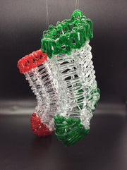 Acrylic Red and Green Stocking (Pack of 2)