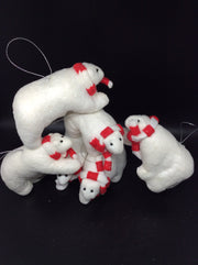 Polar Bear With Candy Cane Scarf - HartFelt Keepsakes