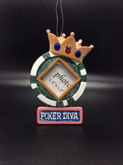 Poker King and Poker Diva Photo Frame - HartFelt Keepsakes