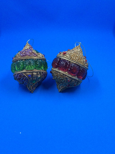 Byzantine Jewel Ball Ornaments (Pack of 2) - HartFelt Keepsakes
