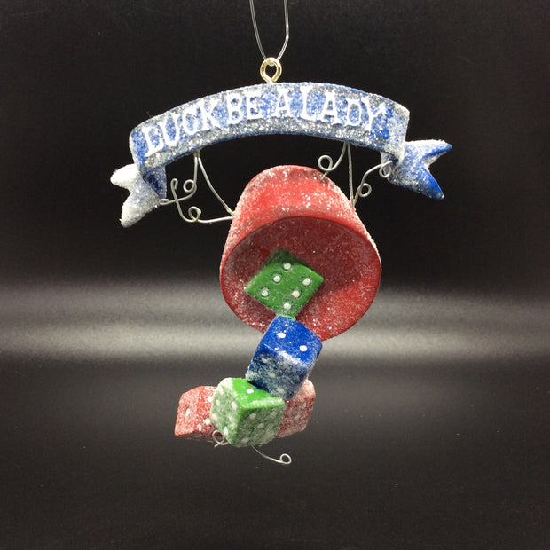 Lucky Casino Gambling Ornaments: Luck Be A Lady