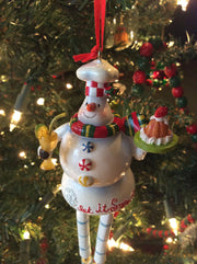Santa Claus, Mrs. Claus and Snowman Cake Express Dangle Legs - HartFelt Keepsakes