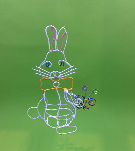 Wire Garden Bunny Ornaments - HartFelt Keepsakes