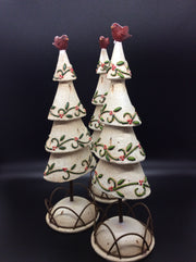 Holy Garland Christmas Tree with Red Bird - HartFelt Keepsakes