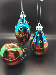 Artsy Glass Ornaments $6.00 Set/3