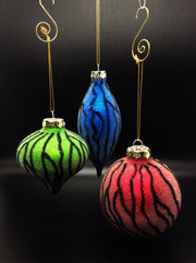 The Wild ZEBRA ORNAMENTS
