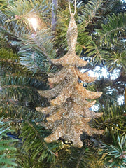 Sparkling Christmas Tree: Gold or Silver - HartFelt Keepsakes