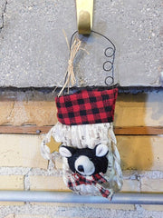 Mini Stocking With Bear - HartFelt Keepsakes