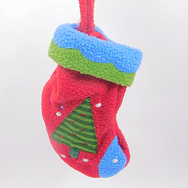 Mini Colorful Stocking: Red & Blue or Red & Green - HartFelt Keepsakes