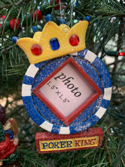 Poker Chip Photo Frame,  King or Diva Chip