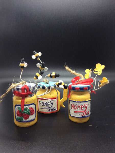 Honey & Jam Jars with Bee's and Butterfly's