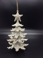 Glitter Ivory and Gold Christmas Tree
