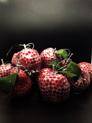 Fruit Ornaments: A Bite Out Of The Big Apple, Pear and Pomegranate Set - HartFelt Keepsakes