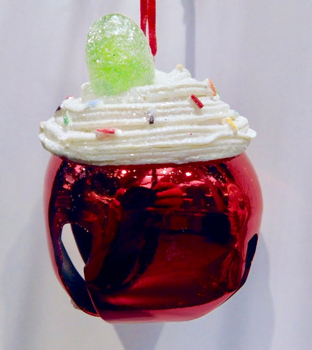Santa's Candied Cupcake Jingle Bell - HartFelt Keepsakes