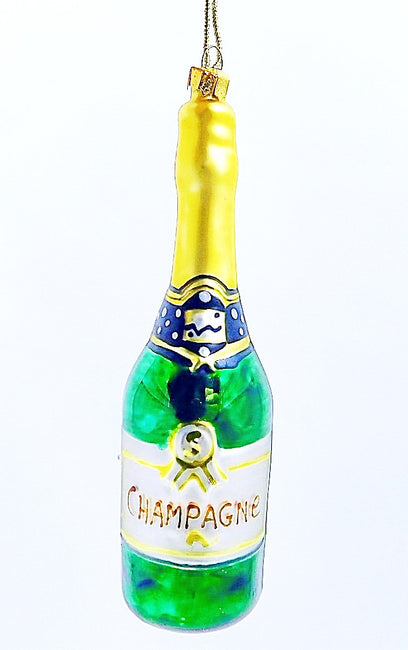 Champagne Bottle Ornament - HartFelt Keepsakes