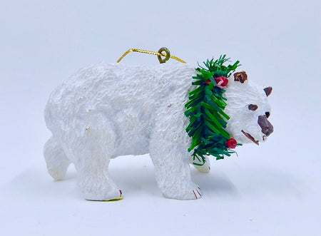 Polar Bear With Wreath - HartFelt Keepsakes