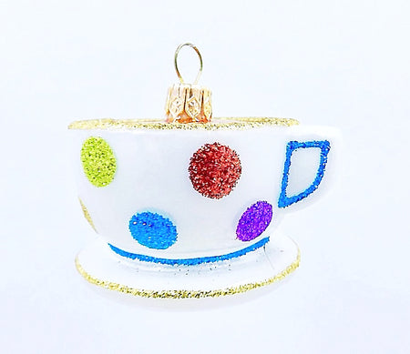 Polka Dot Teacup - HartFelt Keepsakes