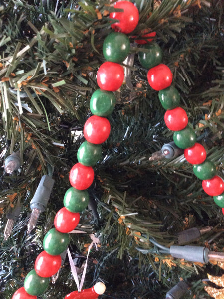 Wood Bead Garland (Red and Green)
