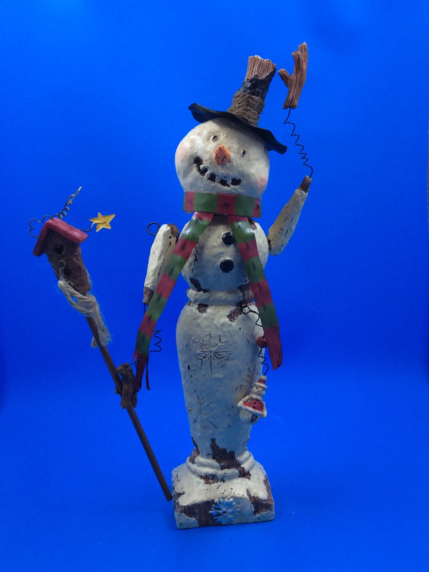 Snowman With Birdhouse - HartFelt Keepsakes