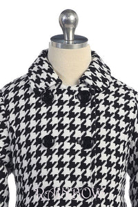 Little Girl Hounds Tooth Coat