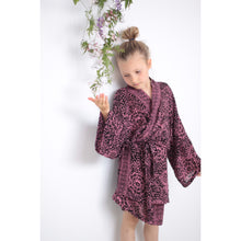 Mummy/Mini Matching Kimono Set- Black Cherry