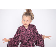 Girls Kimono - Sizes 2-9 years, Black Cherry