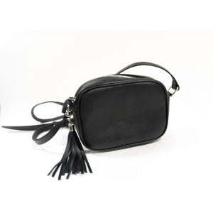 Mini Leather Bag- Black
