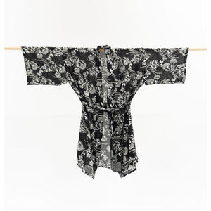 NZ Native Print Kimono- Black and White