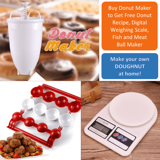 donut maker fish meat ball maker digital weighing scale