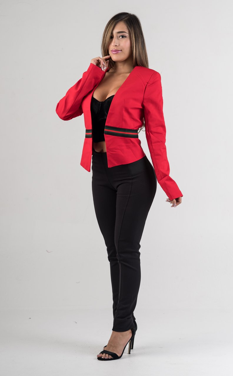 Red Blazer Jacket - GLISTENSTYLES