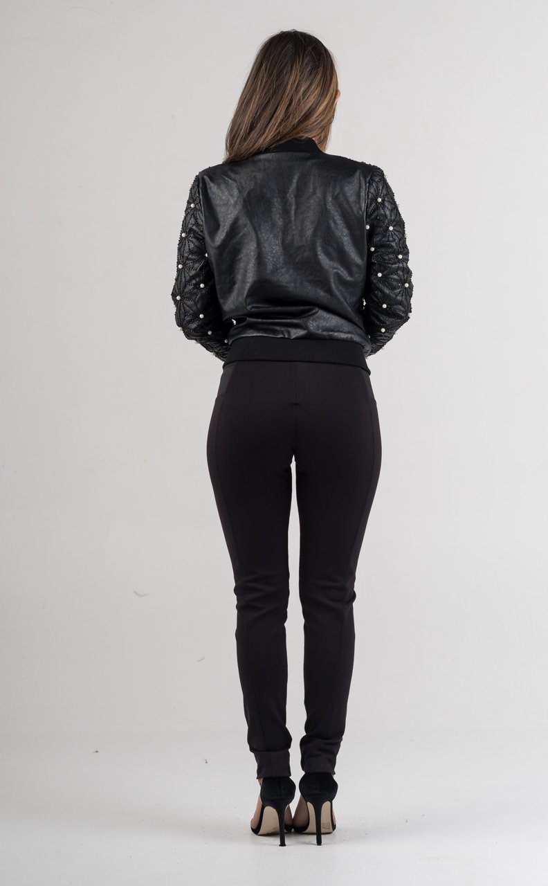 Black Pearl Bomber Jacket - GLISTENSTYLES
