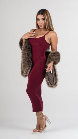 Burgundy Velvet Two Piece Mini Dress