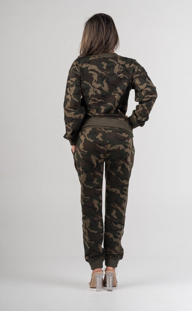 Camouflage Hoodie Two Piece Pants Set - GLISTENSTYLES