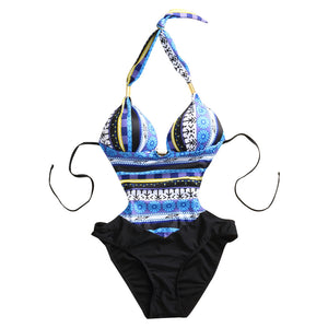 One Piece Sexy Women's Retro Vintage Push Up Swimsuit