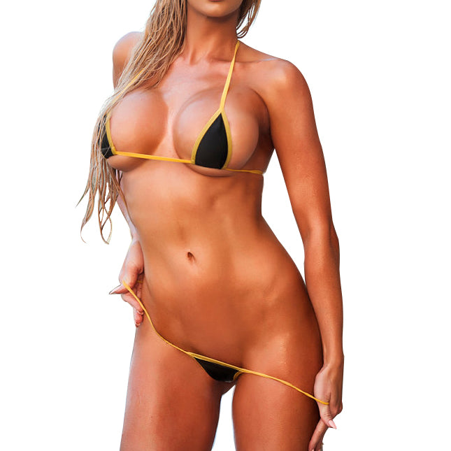 Micro G-String Bikini Sexy Extreme Exotic - 2pc Mini Bikini Set Thong Swimwear