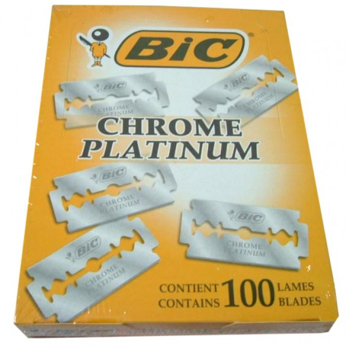 Chrome Platinum Double Edge Razor Blades