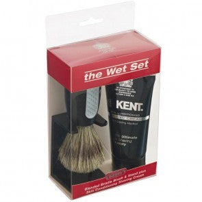Wet Set Shaving Brush and Cream
