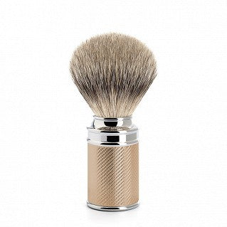 MÜHLE Mens Shaving, M89 Silvertip Badger Metal ROSE GOLD