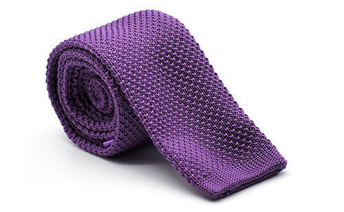 Dapper Vigilante, Dapper Vigilante The Steadman Lavender Knit Tie